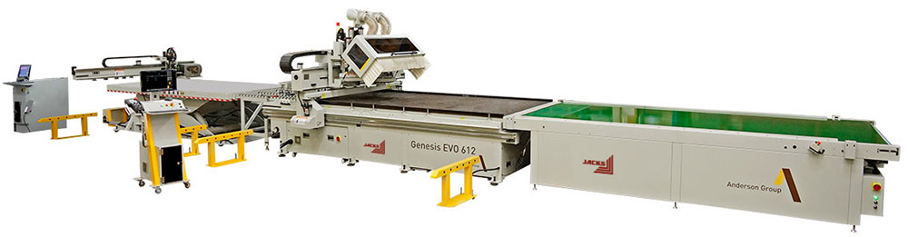 Anderson Genesis EVO 612 CNC with loading and offloading